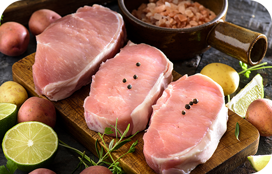 Énorme Côtelette de porc désossée