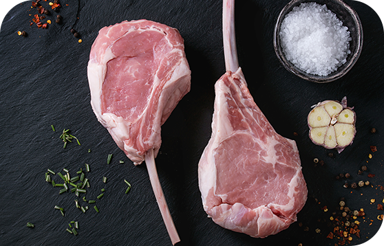 Cotelette de veau avec coupe française