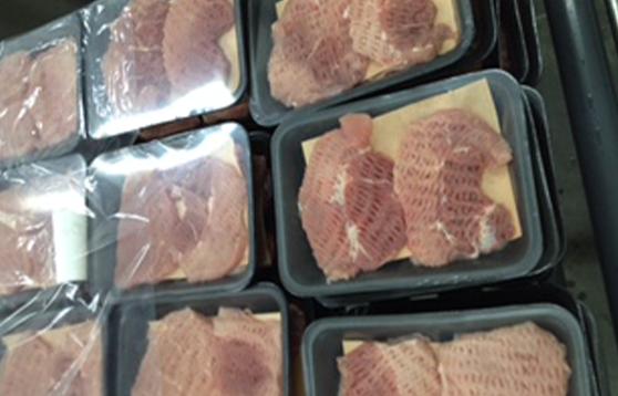 Escalope de porc emballée