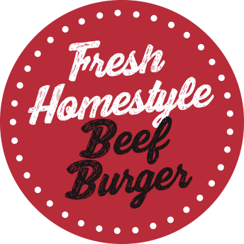 Fresh Homestyle Beef Burger