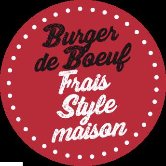 Burger de Boeuf frais de style maison